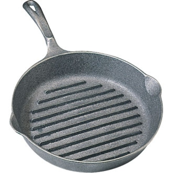 Cast Iron Ribbed Skillet - Round