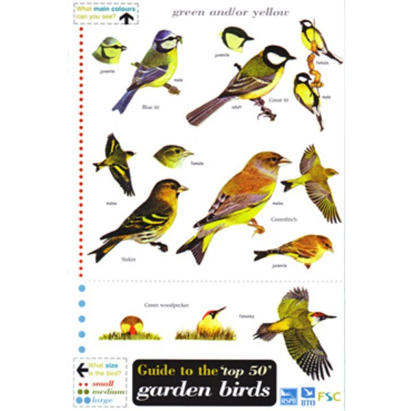 FSC Field Guide to the 50 most common Garden Birds