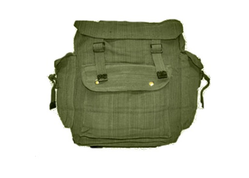 Olive Green Canvas Backpack