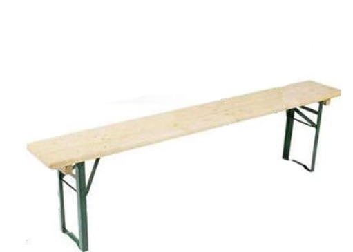 Wooden Trestle Camping Bench