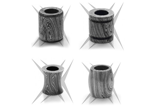 Grindworx Damascus Barrel Beads