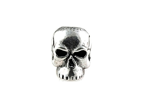 Schmuckatelli Pewter Skull Beads