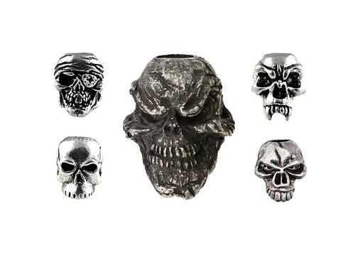 Schmuckatelli Pewter Skull Beads