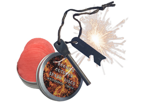 Boonies Outdoor Spark Disc and Firesteel Set