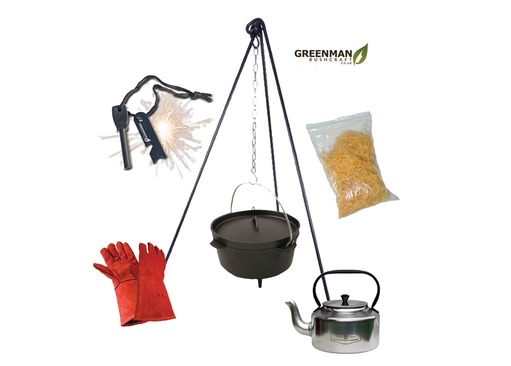Dutch Oven Cooking and Campfire Kettle Kit