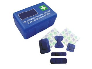 Blue Catering Plasters | 100 Assorted
