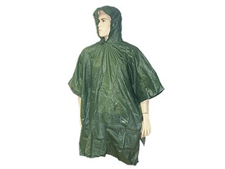 Lightweight Hooded Poncho - Olive