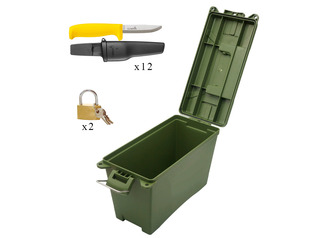 Forest School Safety Knife and Safe Set